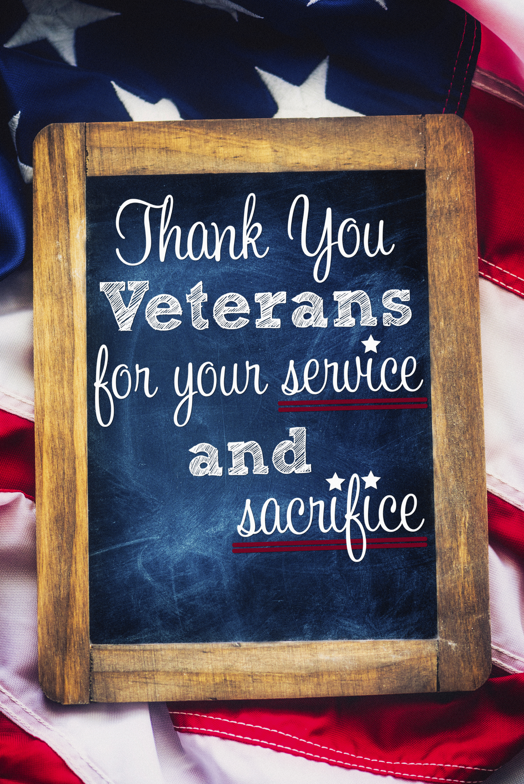 "To All Our Veterans, ""Thank You for Your Service"""
