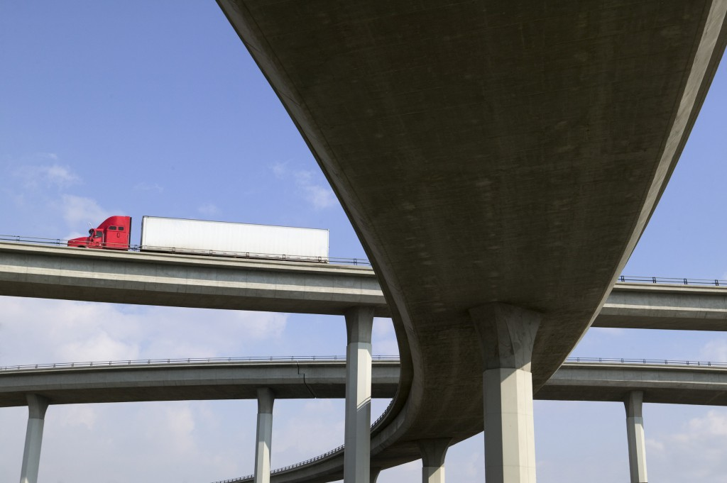 Freeway Overpass --- Image by © Walter Hodges/Brand X/Corbis